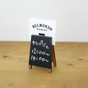 デコレ(DECOLE)ベルモン堂(belmondo)看板ブラックボード【インテリア雑貨】のカード使用画像