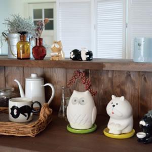 デコレ(DECOLE)ベルモン堂(belmondo)くるりしっぽマグ【猫雑貨】展示画像