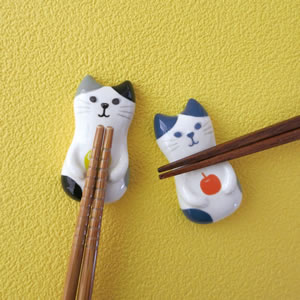 デコレ(DECOLE)HAPPY cat day ねこの実 箸置き【キッチン雑貨】の使用画像