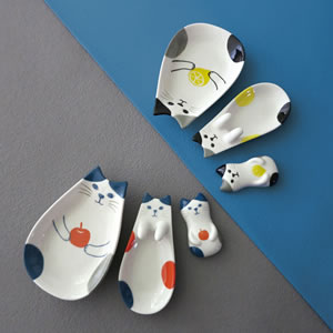デコレ(DECOLE)HAPPY cat day ねこの実 箸置き【キッチン雑貨】のシリーズ画像