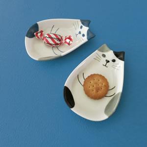 デコレ(DECOLE)HAPPY cat day ねこの実 豆皿【キッチン雑貨】の使用画像