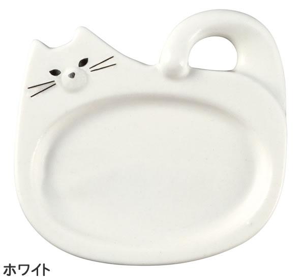デコレ(DECOLE)モノネコオナベ レンゲ&箸置き【猫食器/鍋物】ホワイトの全体画像