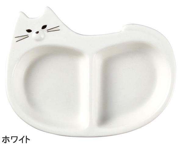 デコレ(DECOLE)モノネコオナベ 薬味皿【猫食器/鍋物】ホワイトの全体画像