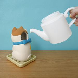 デコレ(DECOLE)コンコンブル しっとり壷 まねき猫【加湿器/インテリア雑貨】茶の水入れ画像