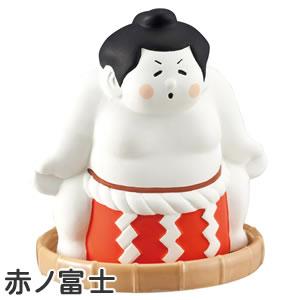 デコレ(DECOLE)潤いマスコット どすこい【加湿器/インテリア雑貨】赤ノ富士の全体画像