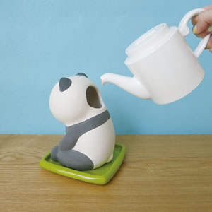 デコレ(DECOLE)潤いマスコット おすわりアニマル【加湿器/インテリア雑貨】パンダの水入れ画像