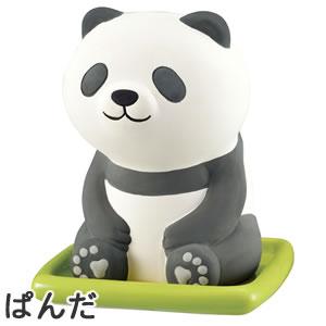 デコレ(DECOLE)潤いマスコット おすわりアニマル【加湿器/インテリア雑貨】パンダの全体画像