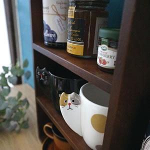 デコレ(DECOLE)ひょっこりマグ【猫/キッチン雑貨】ミケの詳細画像