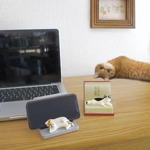 デコレ(DECOLE)HAPPY CAT day じゃま猫スマホスタンド【猫グッズ】の使用画像