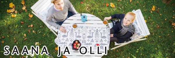 サーナ ヤ オッリ(SAANA JA OLLI)キャンバスバッグS ノースランド【北欧雑貨/フィンランド】