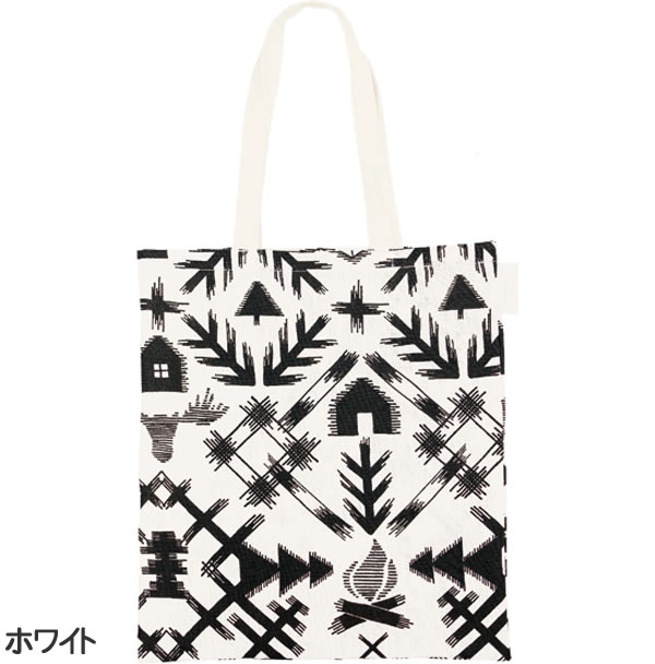 サーナ ヤ オッリ(SAANA JA OLLI)キャンバスバッグS ノースランド【北欧雑貨/フィンランド】ホワイトの全体画像