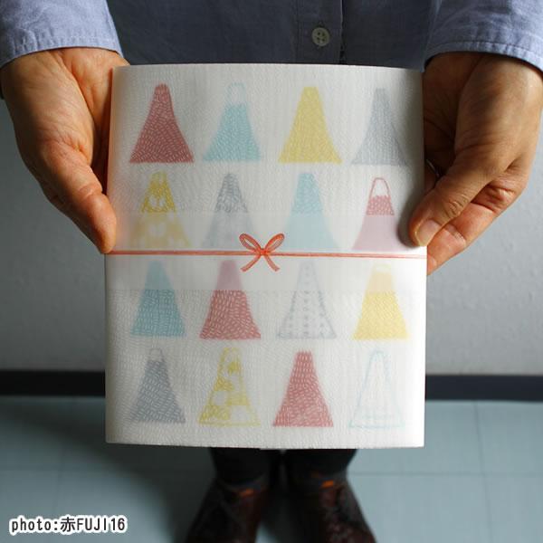 スポンジワイプ ごあいさつワイプ富士山 赤FUJI16 17×20cm【北欧雑貨/キッチン雑貨】の画像