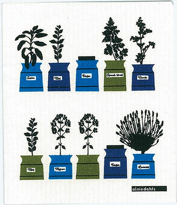 スポンジワイプ アルメダール ハーブ 17×20cm【北欧雑貨/キッチン雑貨】の全体画像