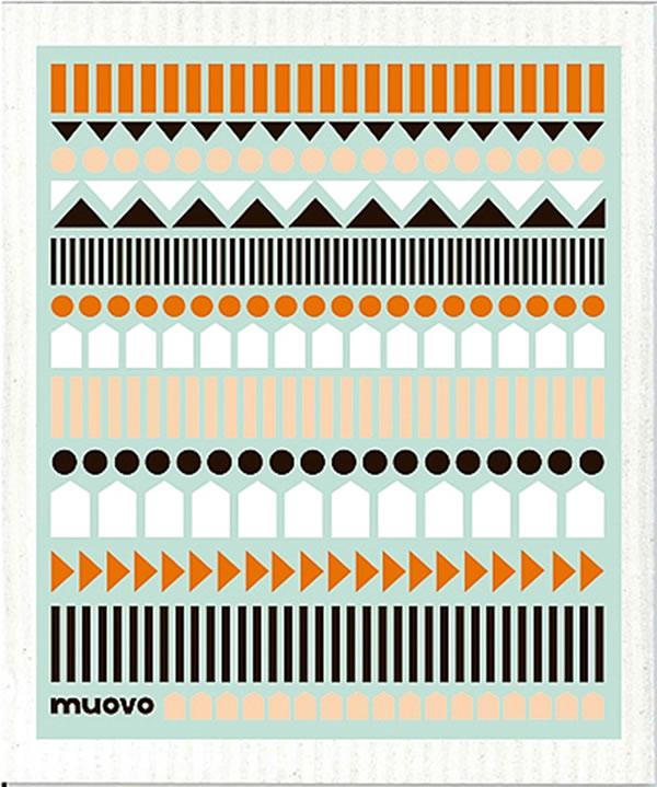 スポンジワイプ ニッティング マルチ 17×20cm【北欧雑貨/キッチン雑貨】の全体画像