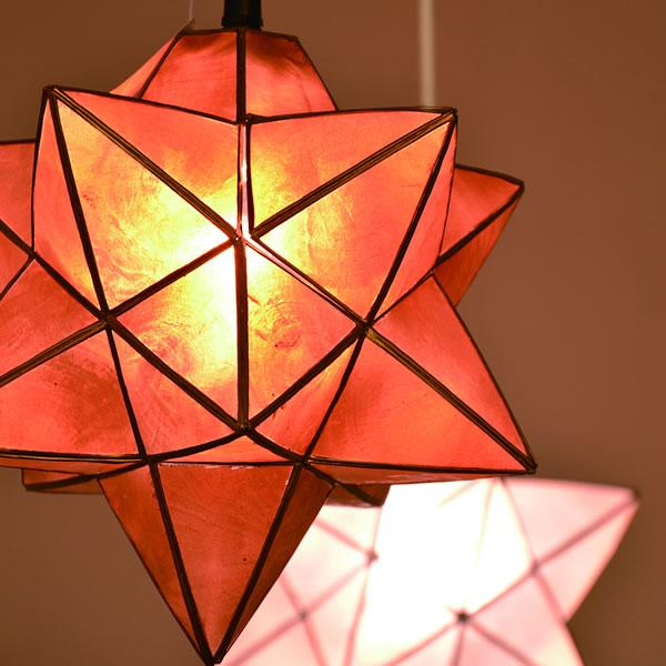 ル・チェルカ(LuCerca)1灯ペンダントライト ロハス スター(Roxas Star)【おしゃれ】アンバーの使用画像