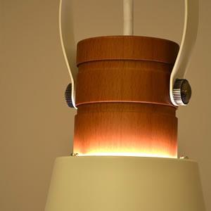 ル・チェルカ(LuCerca)1灯ペンダントライト ウッドベル(Wood Bell)【おしゃれ】オフホワイトの詳細画像