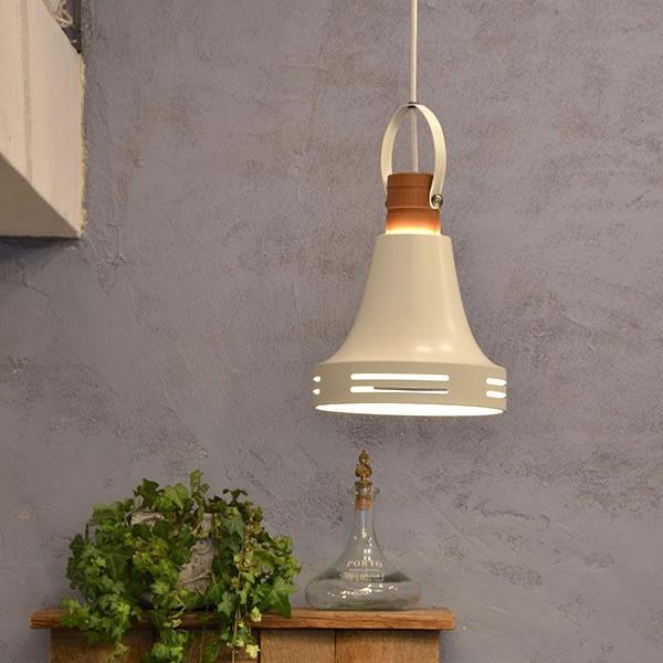 ル・チェルカ(LuCerca)1灯ペンダントライト ウッドベル(Wood Bell)【おしゃれ】オフホワイトの使用画像