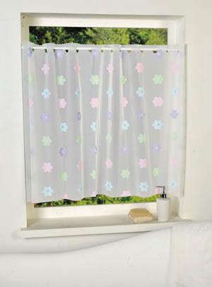 遮像カフェカーテン フラワー 各サイズ【小窓用/浴室/洗面所】の使用画像