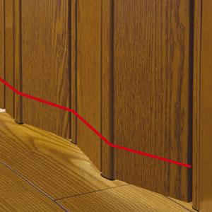 パネルドア クレア【間仕切り/アコーディオン】の注意事項説明画像