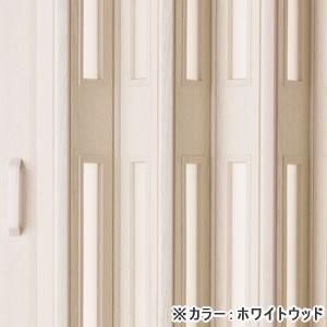 木製風窓付きパネルドア クレア ホワイトウッド色(オーダー)【間仕切り/アコーディオン】の小窓部分詳細画像
