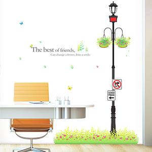 ウォールステッカー 街灯のオフィス使用画像