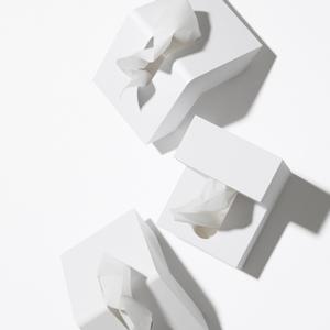 アッシュコンセプト フォリオ(Folio)D-660【ティッシュケース】ホワイトの展示画像