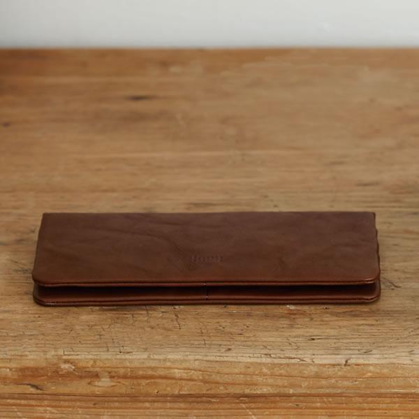 hmny 長財布【革/おしゃれ】ブラウンの使用画像