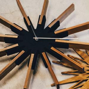 掛け時計 シリオ(Sirio)【北欧/木製/インテリア】ブラックの詳細画像