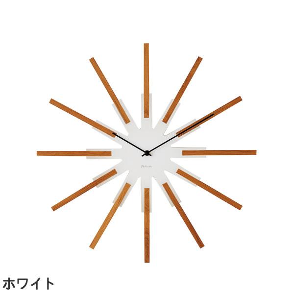 掛け時計 シリオ(Sirio)【北欧/木製/インテリア】ホワイトの全体画像