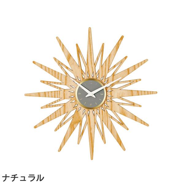 掛け時計 セプテントリオ(Septemtrio)【北欧/木製/インテリア】ナチュラルの全体画像