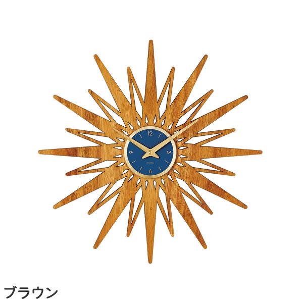 掛け時計 セプテントリオ(Septemtrio)【北欧/木製/インテリア】ブラウンの全体画像