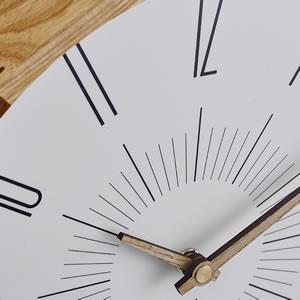電波掛け時計 ブードリー(Boudry)【北欧/木製/インテリア】ミックスの詳細画像