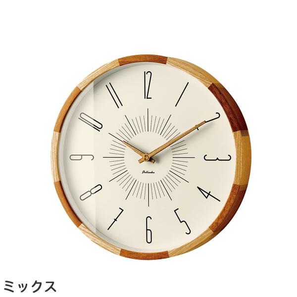 電波掛け時計 ブードリー(Boudry)【北欧/木製/インテリア】ミックスの全体画像