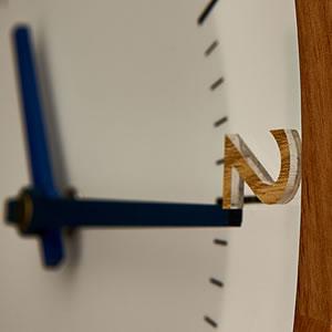 電波掛け時計 オラント(Oland)【北欧/木製/インテリア】ミックスの詳細画像