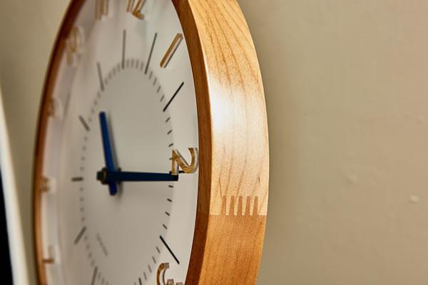 電波掛け時計 オラント(Oland)【北欧/木製/インテリア】ミックスの詳細画像2