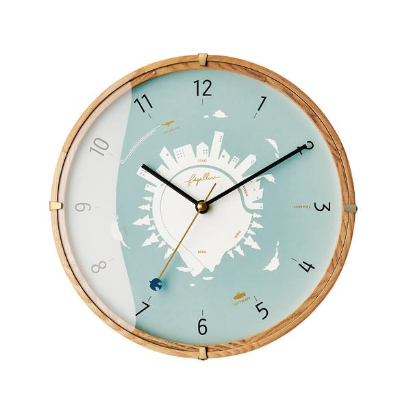掛け時計 ヒンメル(Himmel)【北欧/木製/インテリア】の全体画像