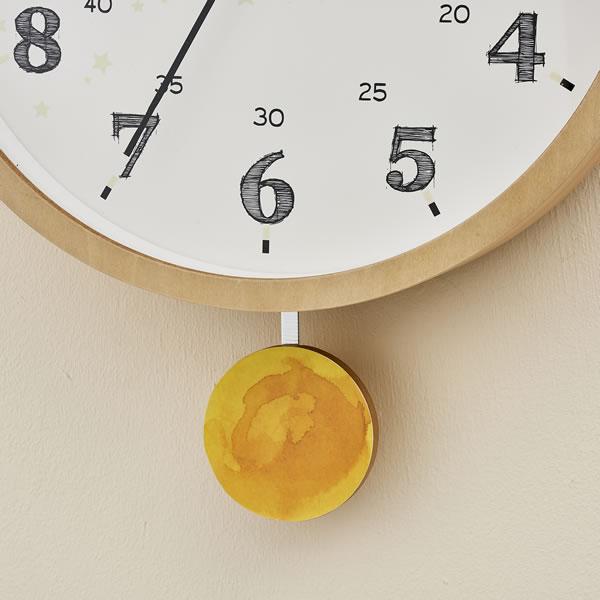 掛け時計 トード(Todo)【子供部屋/木製/インテリア】ホワイトの詳細画像