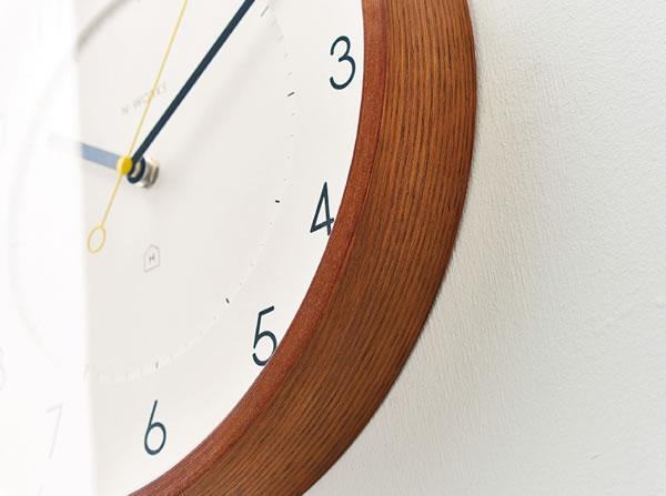 掛け時計 トゥッカ(Tukka)【北欧/木製/インテリア】ブラウンの詳細画像2