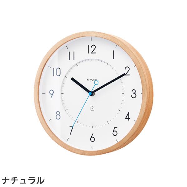 掛け時計 トゥッカ(Tukka)【北欧/木製/インテリア】ナチュラルの全体画像