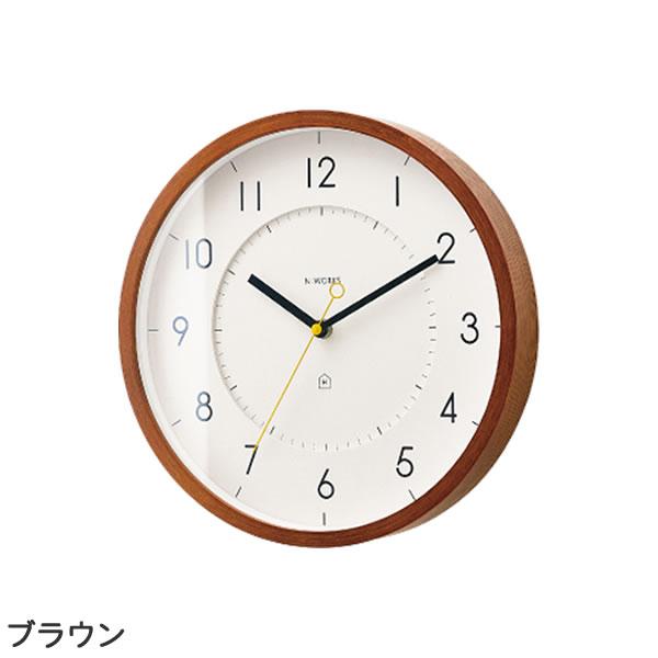 掛け時計 トゥッカ(Tukka)【北欧/木製/インテリア】ブラウンの全体画像
