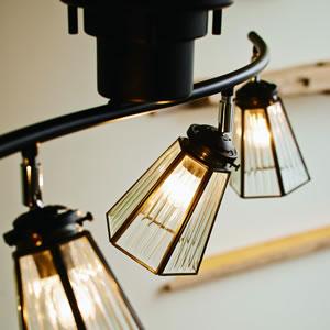 シーリングライト フェリーノ4 4.5畳〜6畳【おしゃれ/インテリア照明】ブラックの詳細画像