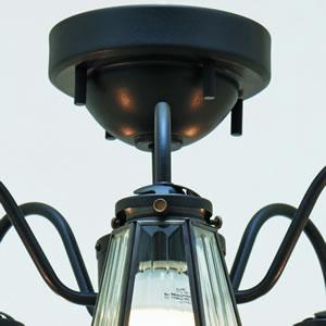シーリングライト フェリーノ5 6畳〜8畳【おしゃれ/インテリア照明】ブラックの詳細画像