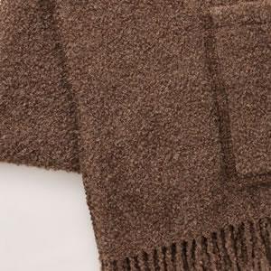 クリッパン アルパカストール W65×L200cm【北欧雑貨】ブラウンの詳細画像