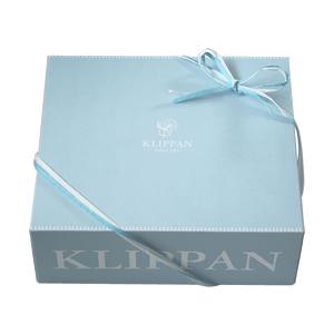 クリッパン(KLIPPAN)ウール専用ギフトボックス【北欧雑貨】のブランケット梱包時の画像