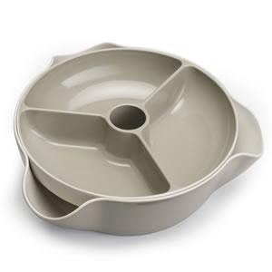 ジョセフジョセフ(josephjoseph)ダブルディッシュ ラージ【食器/お皿】のストーン色全体画像