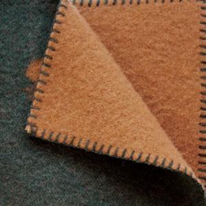 クリッパン(KLIPPAN)ウールブランケット CHOUCHO ミニ W65×L90cm【北欧雑貨】グリーン/ブラウンの詳細画像