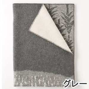クリッパン(KLIPPAN)ウールブランケット FOREST シングル W130×L180cm【北欧雑貨】グレーの詳細画像