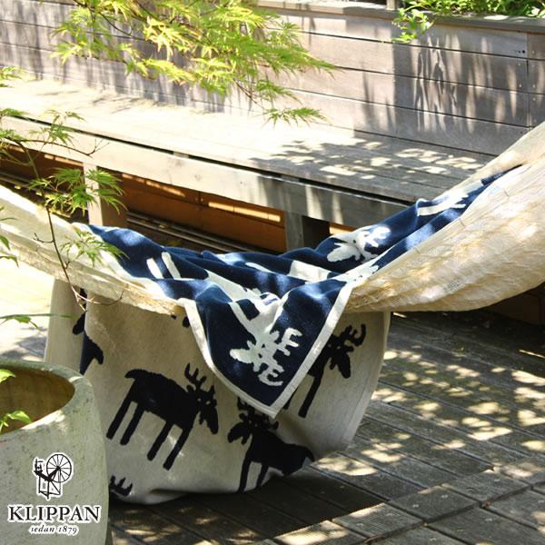 クリッパン(KLIPPAN)ハーフブランケット ムース W90×L140cm【ベビー/北欧雑貨】ネイビーの使用画像