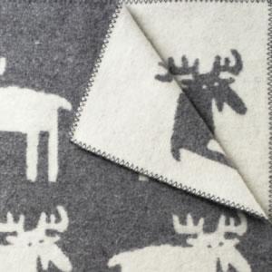クリッパン(KLIPPAN)ウールブランケット ムース シングル W130×L180cm【北欧雑貨】グレーの詳細画像