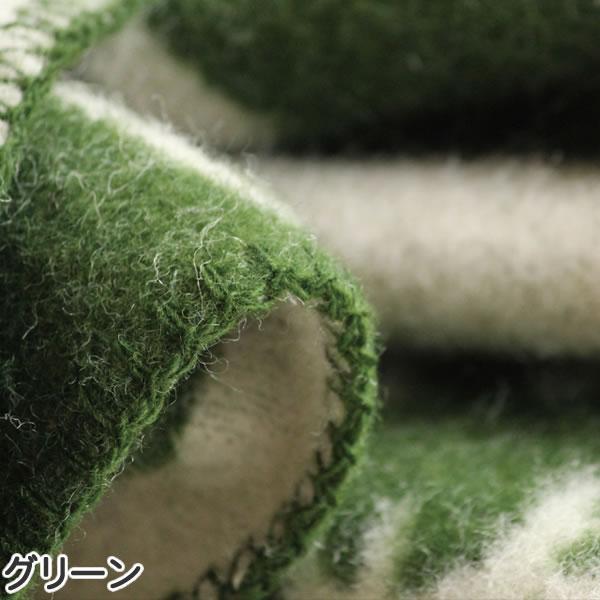 クリッパン(KLIPPAN)ウールブランケット ムース ハーフ W90×L130cm【北欧雑貨】グリーンの詳細画像